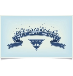 Happy winter holiday greeting design element vector