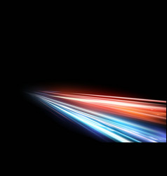 high speed light effect on vector image