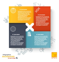Infographic set against a bright background vector