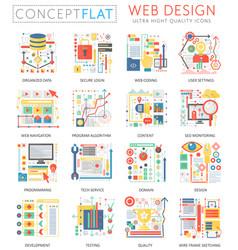 infographics mini concept web design icons vector image