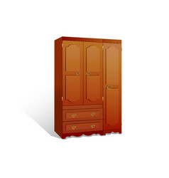 Isolated a wardrobe on white background vector