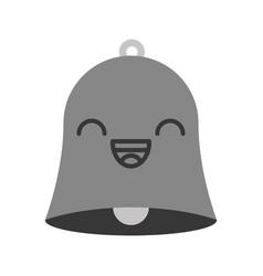 kawaii bell cartoon vector image