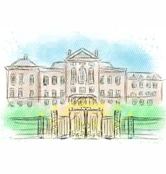 kensington palace vector image
