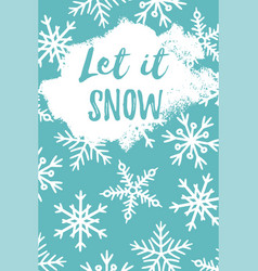 Let it snow greeting card vector