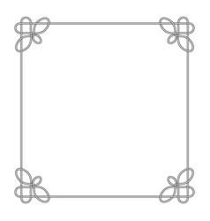 line deco border frame celtic knot vector image