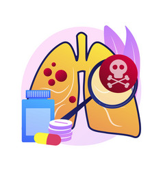Lower respiratory infections abstract concept vector
