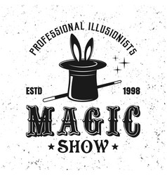 magic show circus vintage emblem vector image