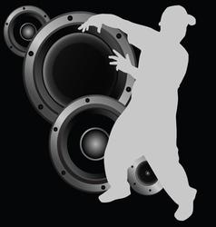 man dancing and speaker vector image