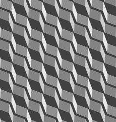 Monochrome pattern with gray striped diagonal vector image