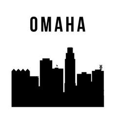 omaha city simple silhouette modern urban vector image