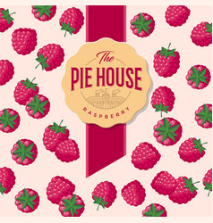 packaging raspberry pie vector image