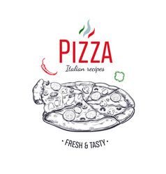 Pizza design template 1 vector