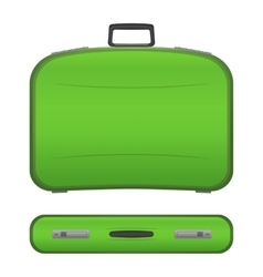 Realistic suitcase on white background vector