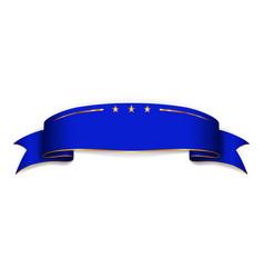 ribbon blue banner sign satin blank promotion vector image