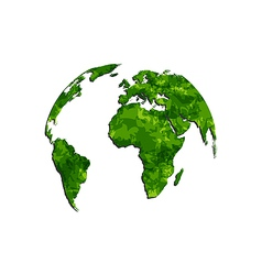 save the green Earth environmental symbol vector image