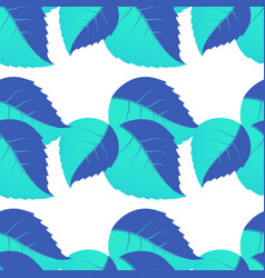 seamless pattern of leaves arranged randomly on vector image