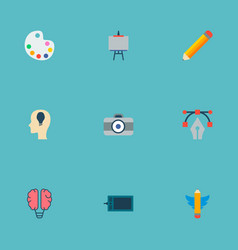 Set of creative icons flat style symbols with vector