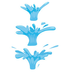 set splash of liquid water splutter for vector image