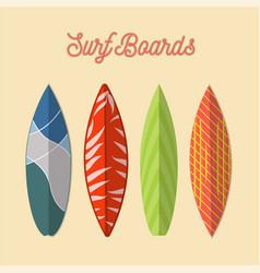 Set surfboard isolated vector