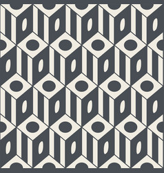 simple geometric seamless pattern in flat style vector image