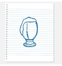 sketch of a beer vector image