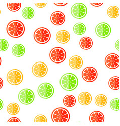 Sliced fruit on a white background vector