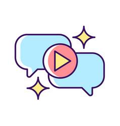 Talk show rgb color icon vector