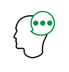 Thinking head 2 vector