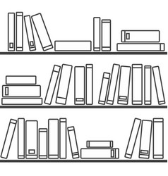 tile pattern with books on the shelf on white vector image