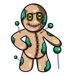 Voodoo esport mascot logo design vector