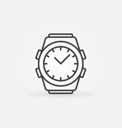 watch outline icon wrist watch line vector image
