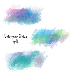 watercolor stains collection isolated on white vector image