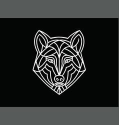 Wolf monoline vector