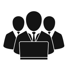 work business group icon simple style vector image