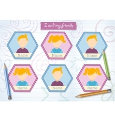 Yearbook for primary school with pencils vector