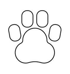 animal footprint black color icon vector image vector image