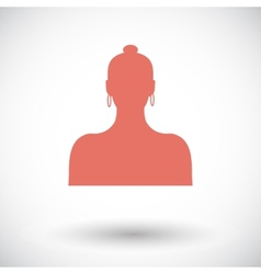 Female avatar single icon vector image vector image