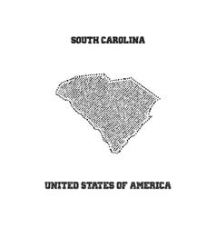 Label with map of south carolina vector image