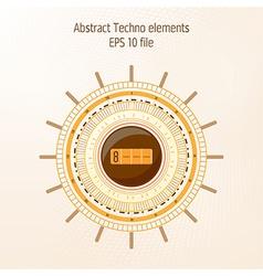 Technology object on light background vector image