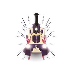 train icon locomotive travel railway vector image vector image