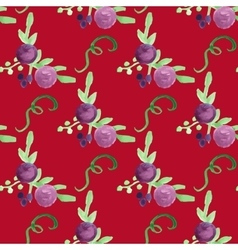 Watercolor floral violet berry handdrawn vector image