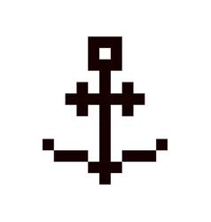 anchor pixel art cartoon retro game style vector image vector image