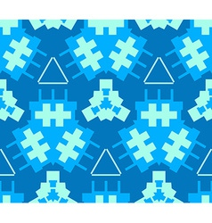 Blue cyan light green color abstract geometric vector