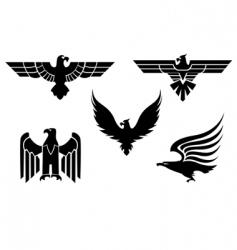 eagle symbols vector image vector image