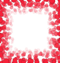 Frame with hearts vector image vector image