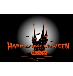 Halloween poster with haunted house vector image