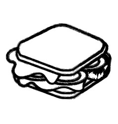Silhouette fast food sandwich meal vector
