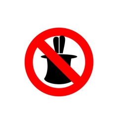 Stop tricks Ban to do magic tricks Frozen cylinder vector image vector image