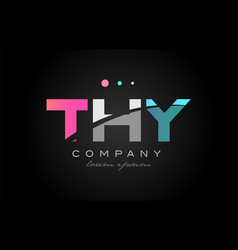thy t h y three letter logo icon design vector image vector image