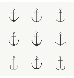 Anchor isolated set vector image